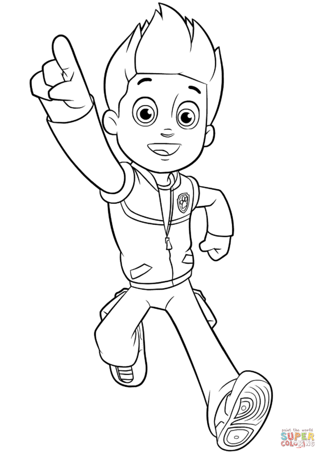 Paw Patrol Ryder coloring page  Free Printable Coloring Pages