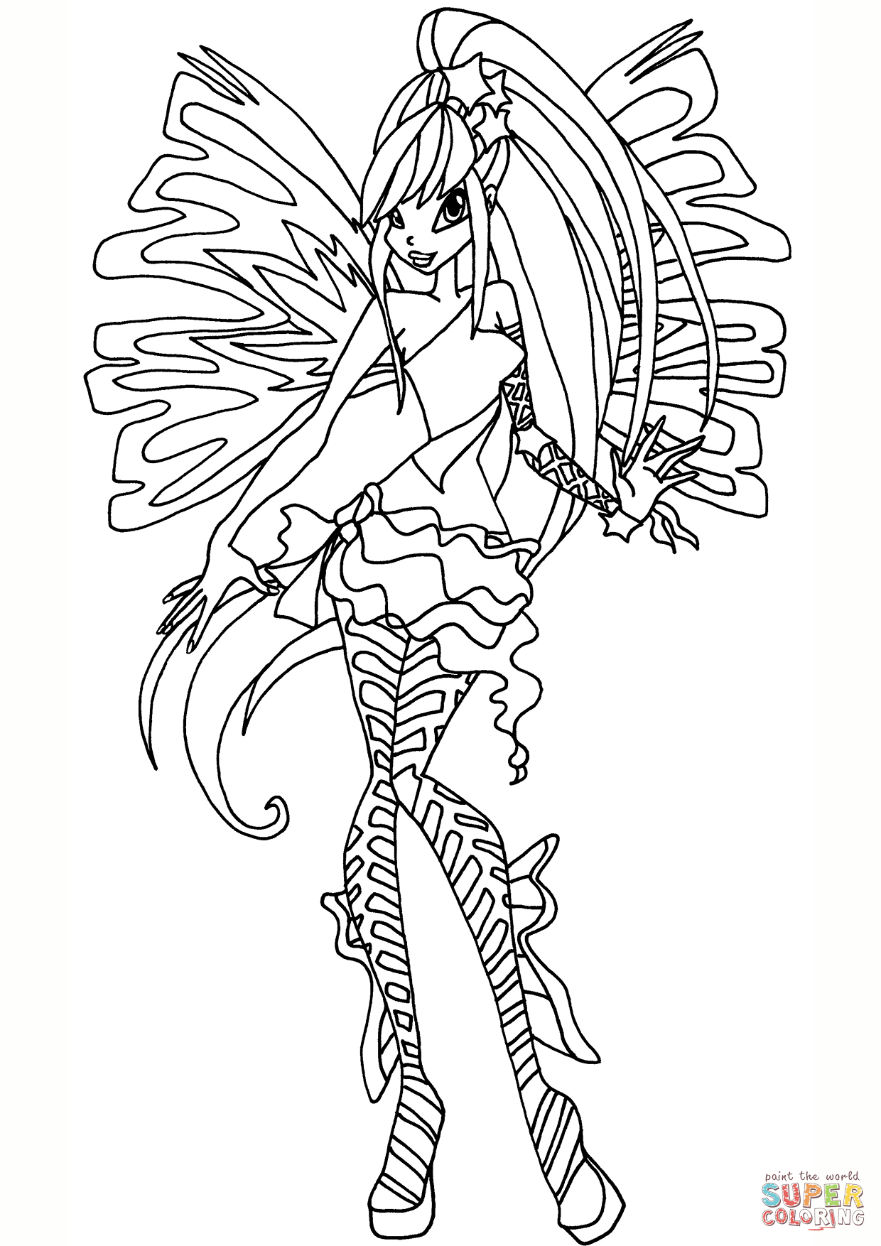 Sirenix Stella Coloring Page Free Printable Coloring Pages