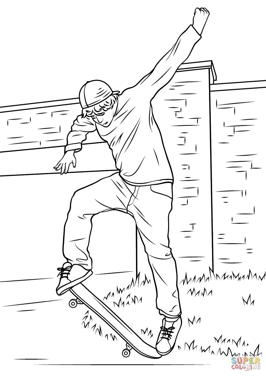 Skating Skateboard Coloring Pages
