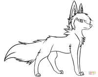 Stylish Wolf coloring page | Free Printable Coloring Pages