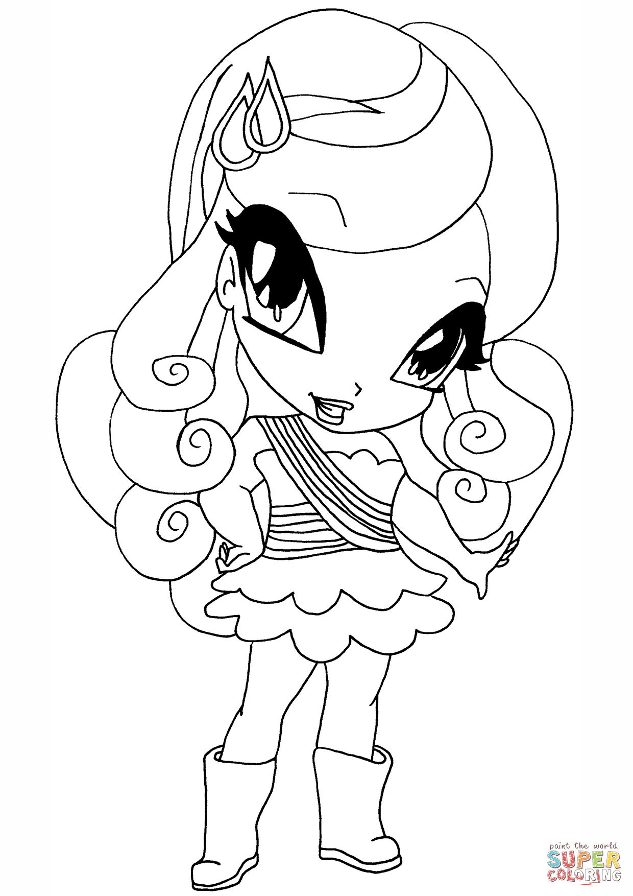 Winx Club Cherie Pixie Coloring Page Free Printable Coloring Pages