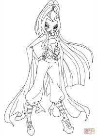 Winx club body base sketch coloring page for Disegni winx sirenix da colorare