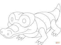 Sandile Pokemon coloring page | Free Printable Coloring Pages