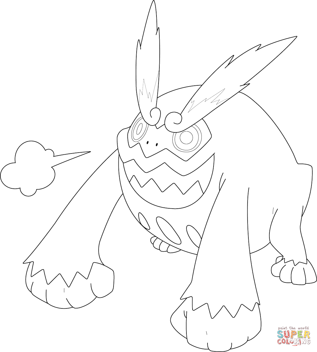 Darmanitan Pokemon Coloring Page