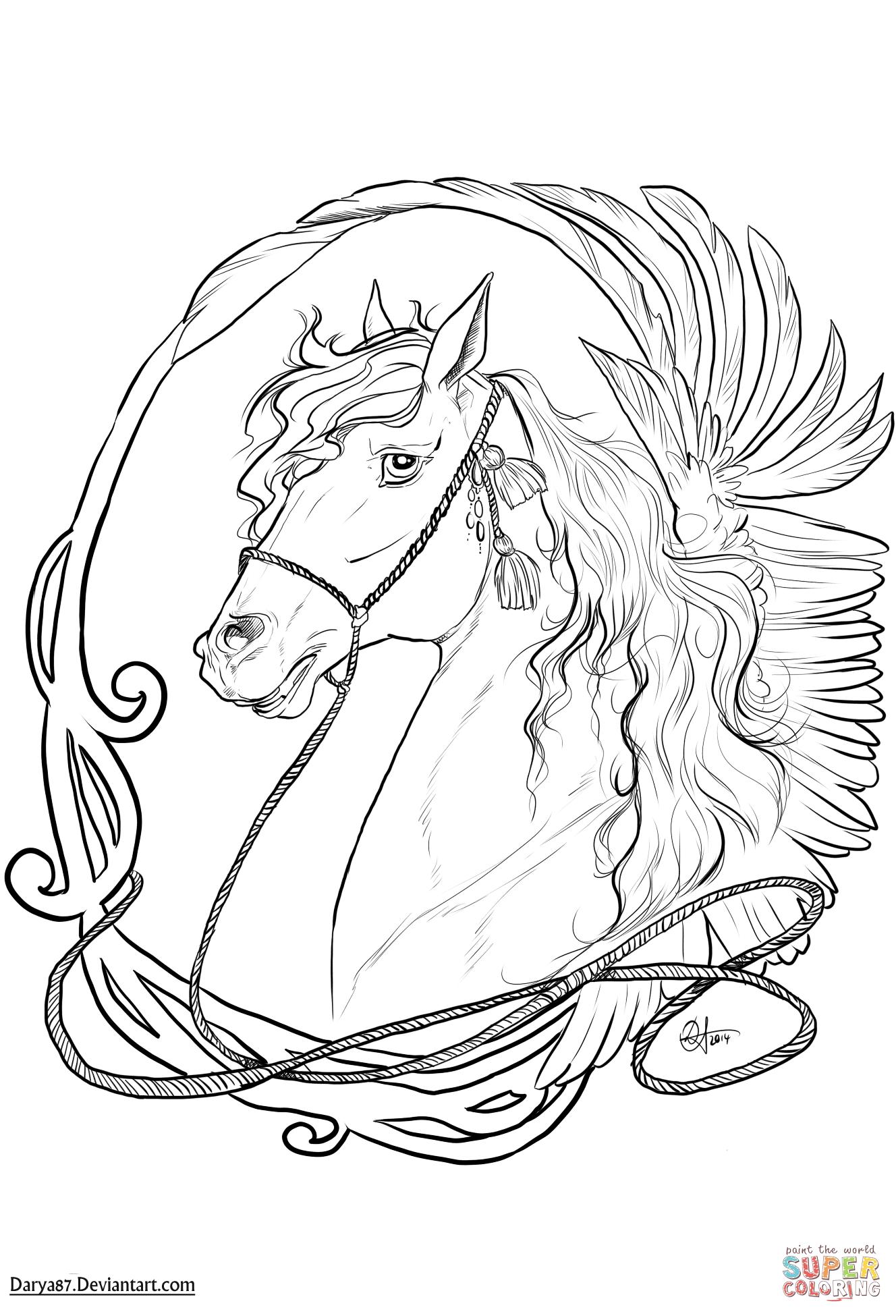 Art Nouveau Horse Coloring Page