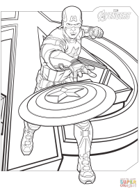 Avengers Captain America coloring page | Free Printable ...