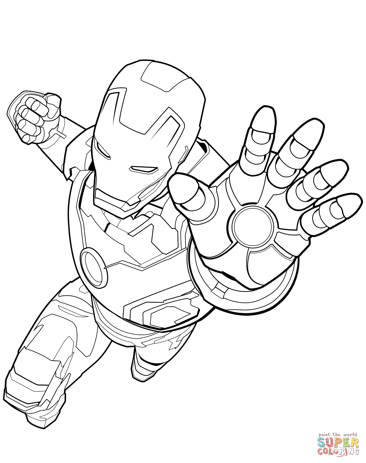 Flying Iron Man Coloring Pages