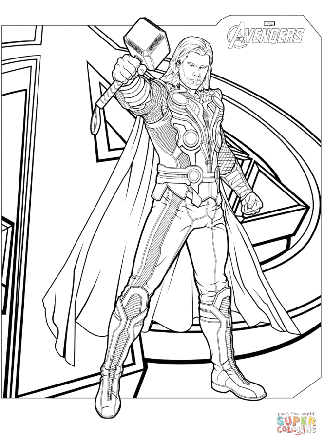 Click The Avengers Thor Coloring Pages To View Printable