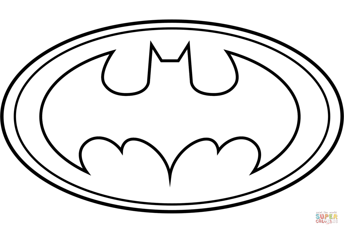 Batman Logo Coloring Page