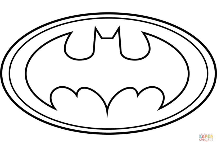 Batman Logo Coloring Page Free Printable Pages