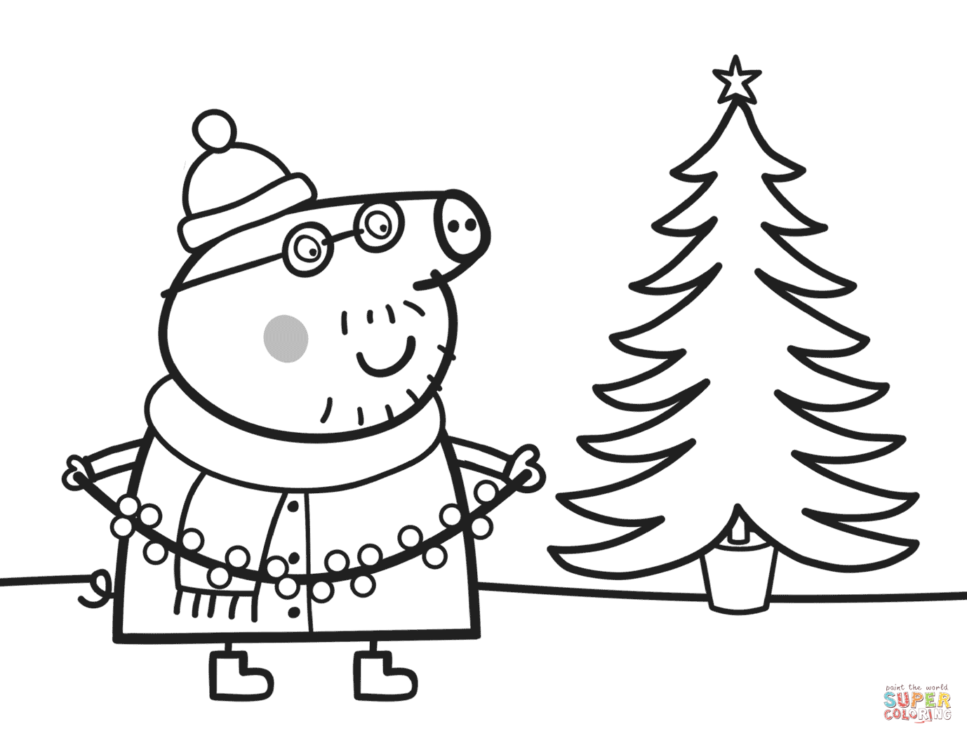 List of Coloring Page Xmas Pict - Best Pictures