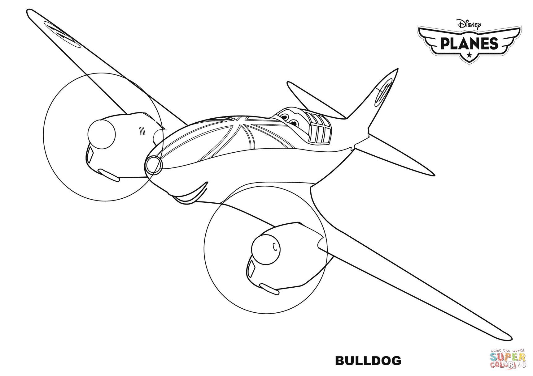 Disney Planes Bulldog Coloring Page Free Printable Coloring Pages
