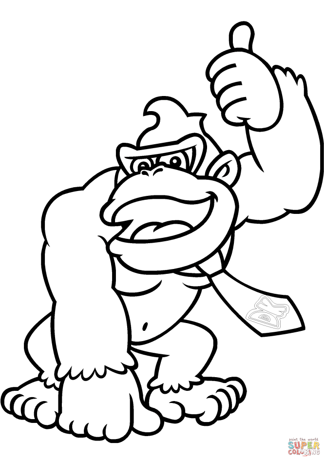 Donkey Kong Coloring Book Pages | Coloring Page for kids