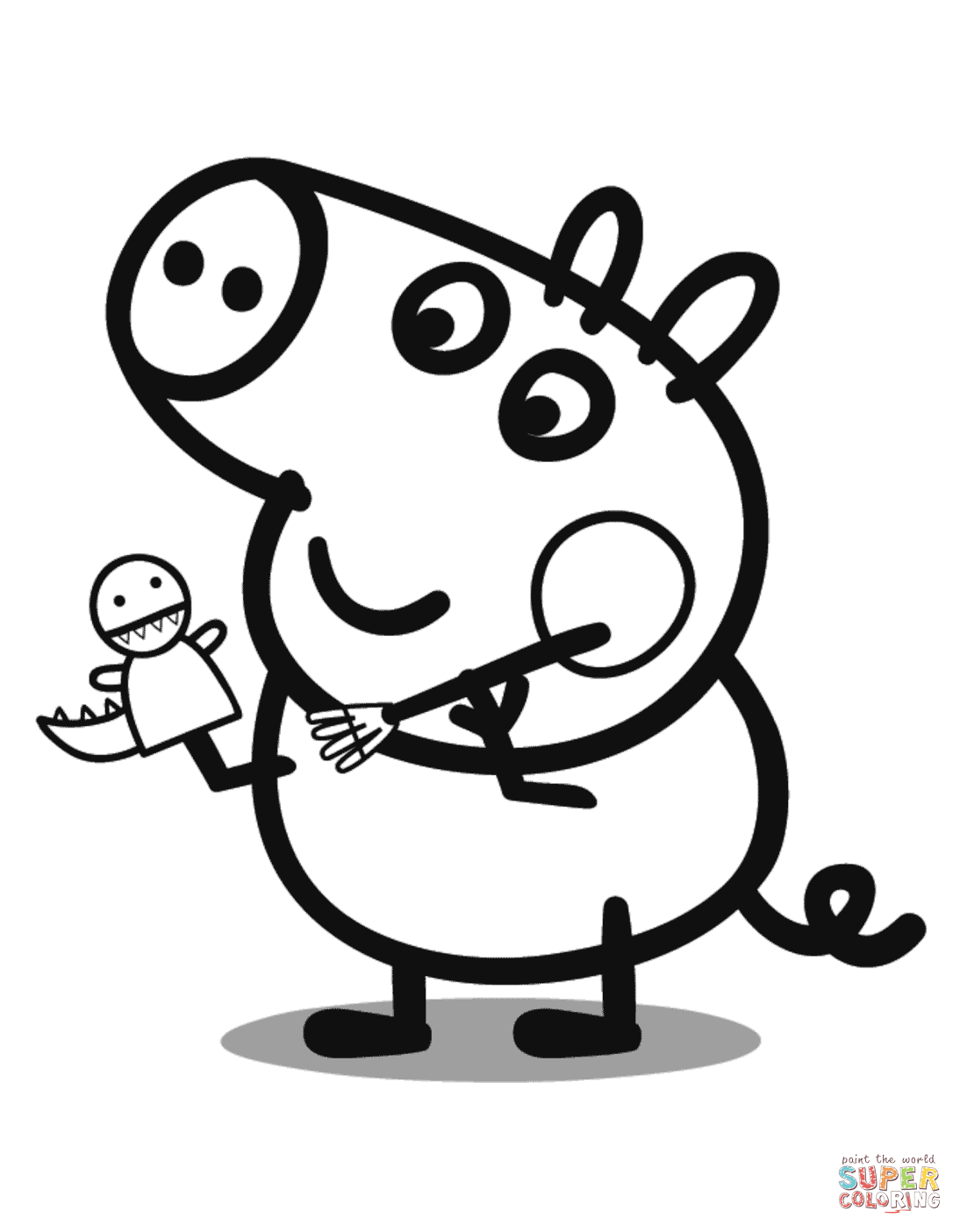 Coloring Page Pig Free Coloring Pages Download   Xsibe baby pig ...