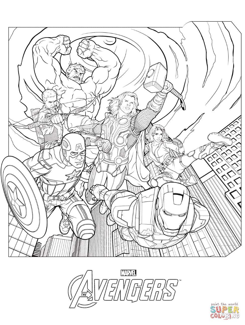 Marvel S The Avengers Coloring Pages Free Coloring Pages