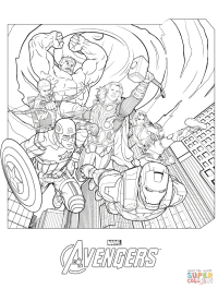 Marvel Avengers coloring page | Free Printable Coloring Pages