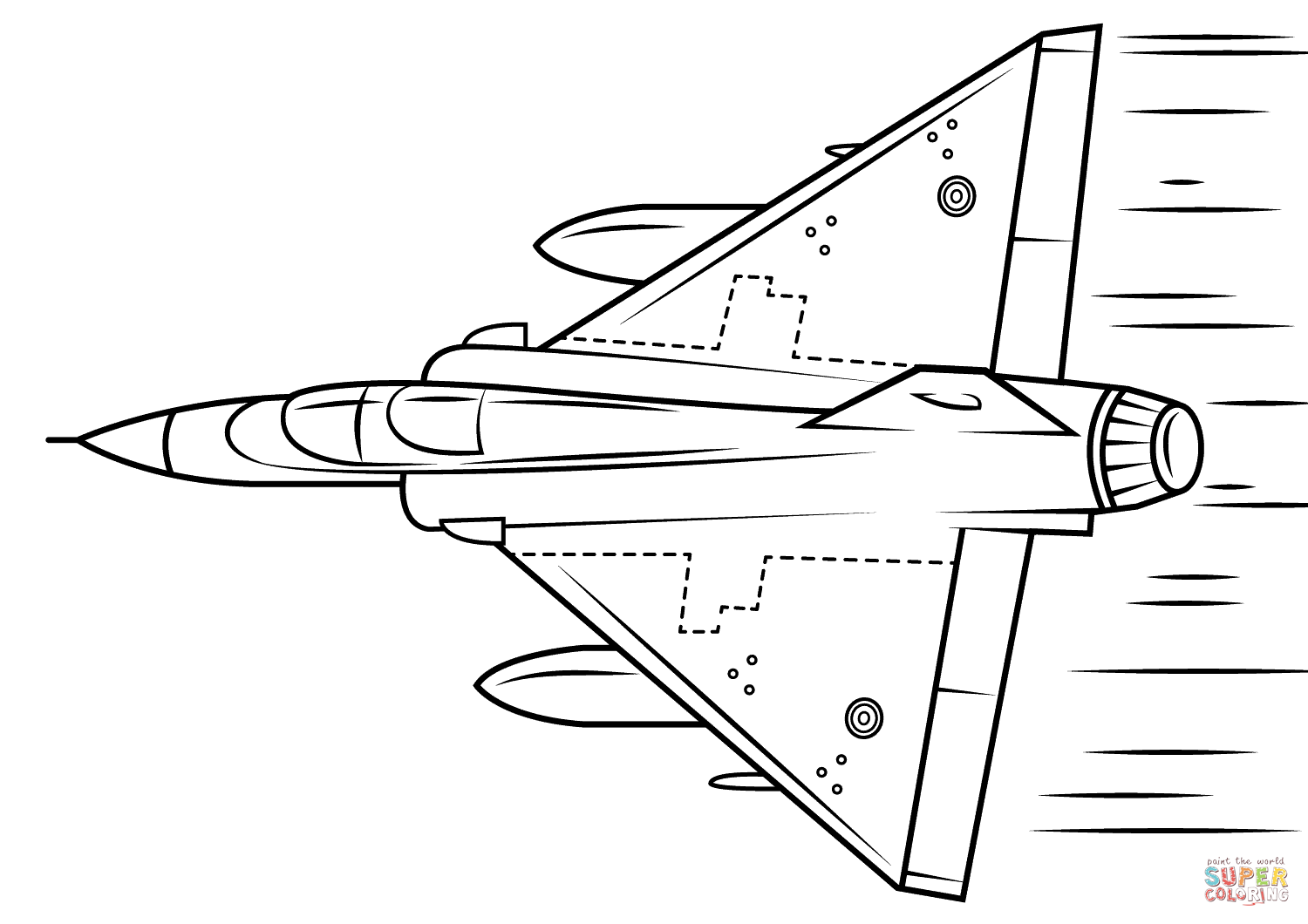 Mirage Coloring Page