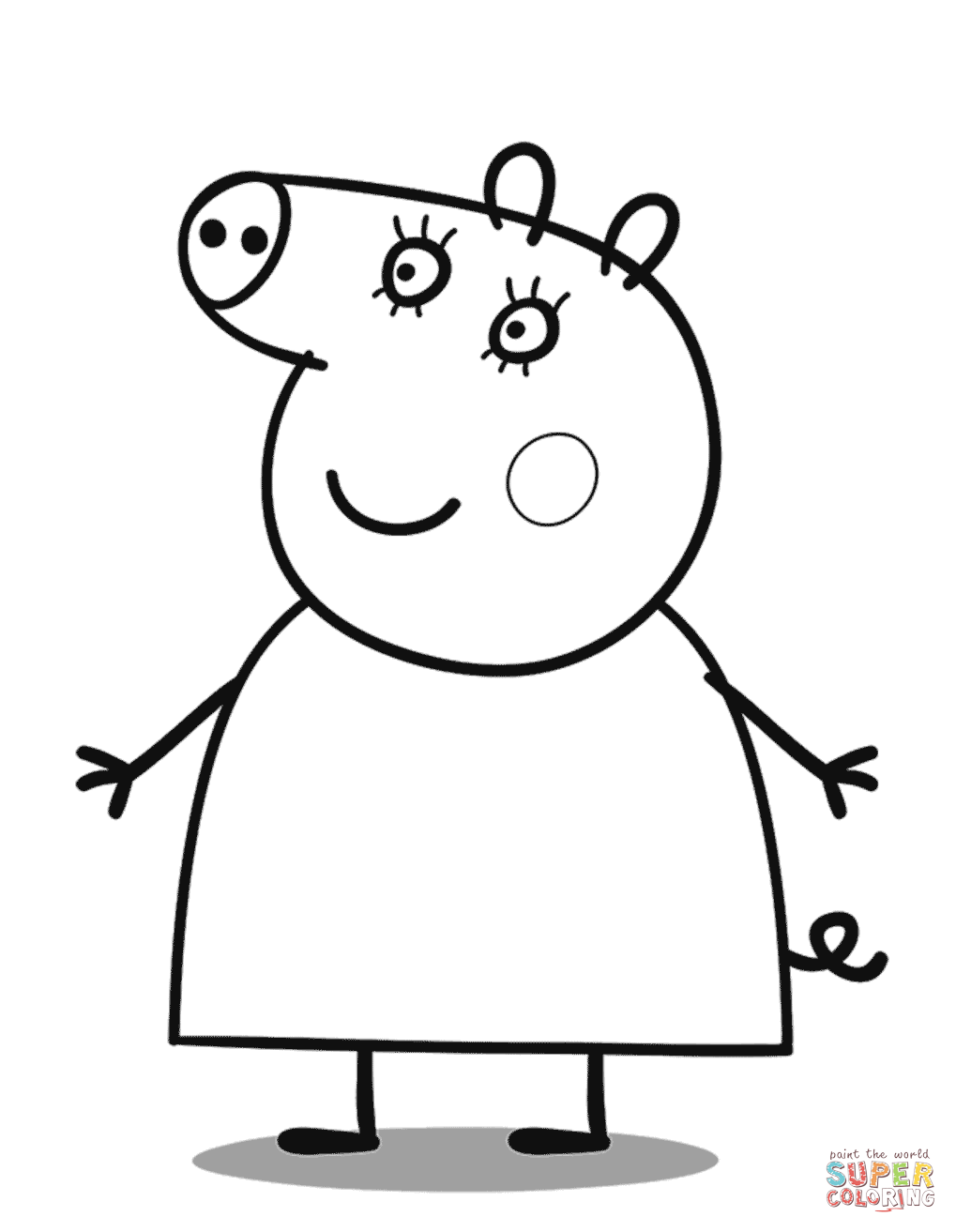 Mummy Pig Coloring Page Free Printable Coloring Pages