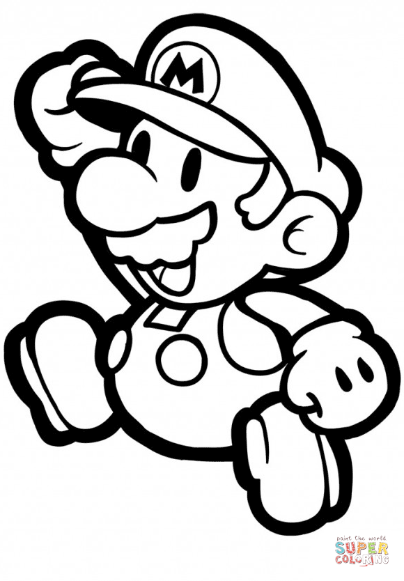 Super Mario Coloring Pages To Print Natashamillerweb