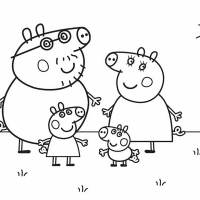 Peppa Family Coloring Page Photos Pig For And Printable Computer Hd Pics Pig