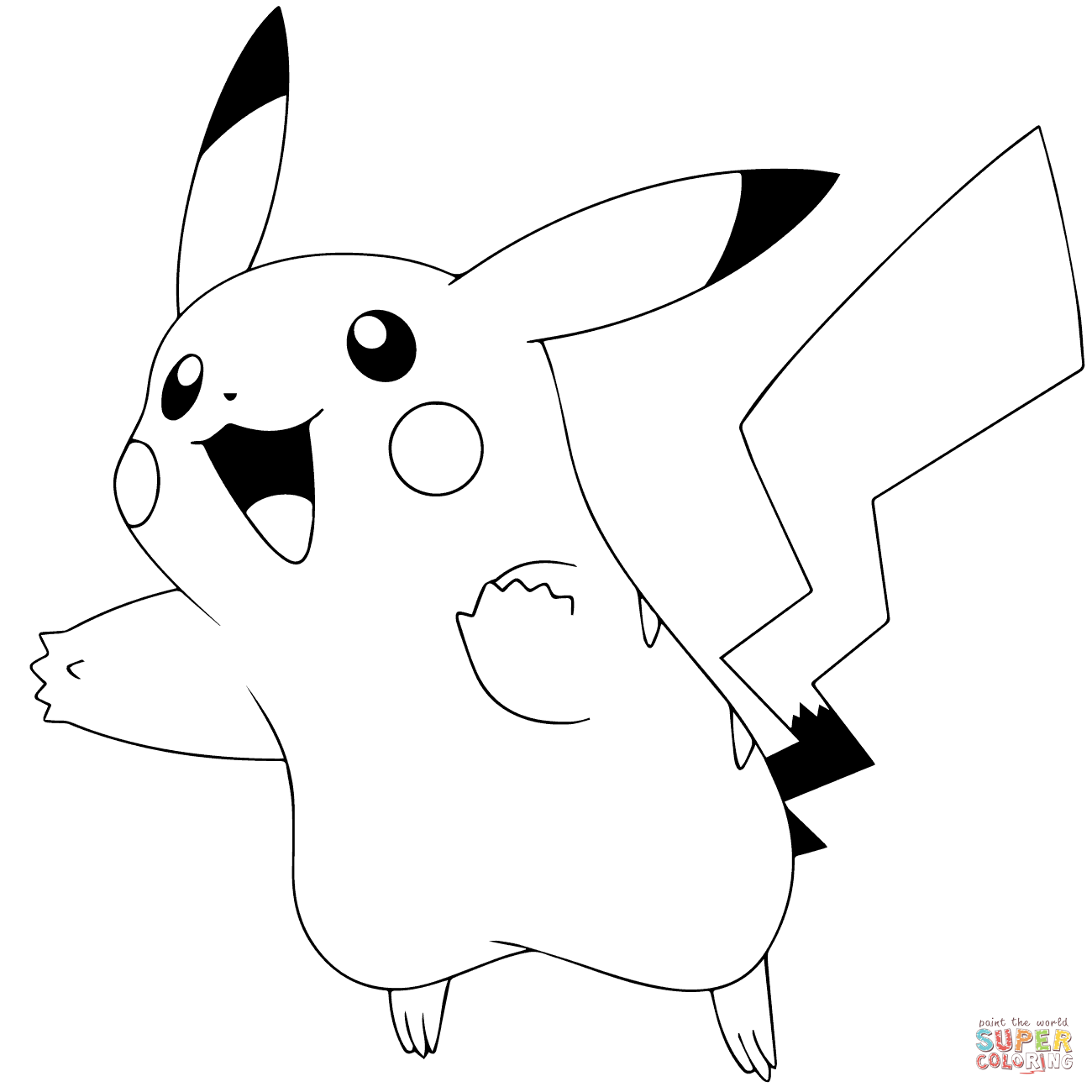 Pokemon Go Pikachu 025 Coloring Page