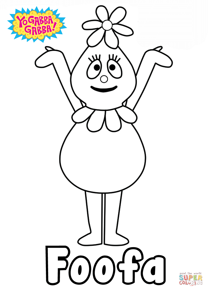 Yo Gabba Gabba Foofa Coloring Page Free Printable Coloring Pages