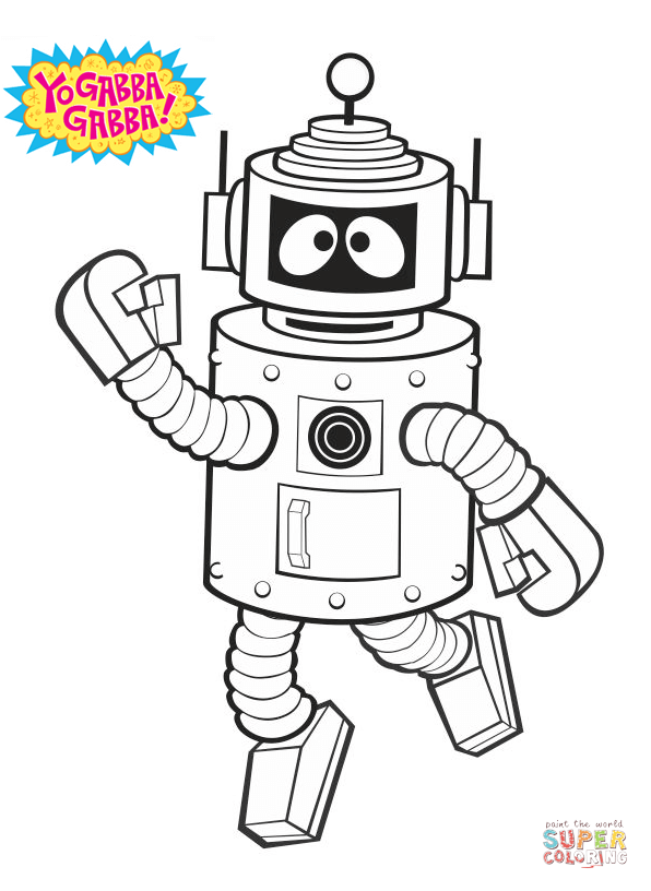 yo gabba gabba coloring pages | Coloring Pages for Familly and Kids