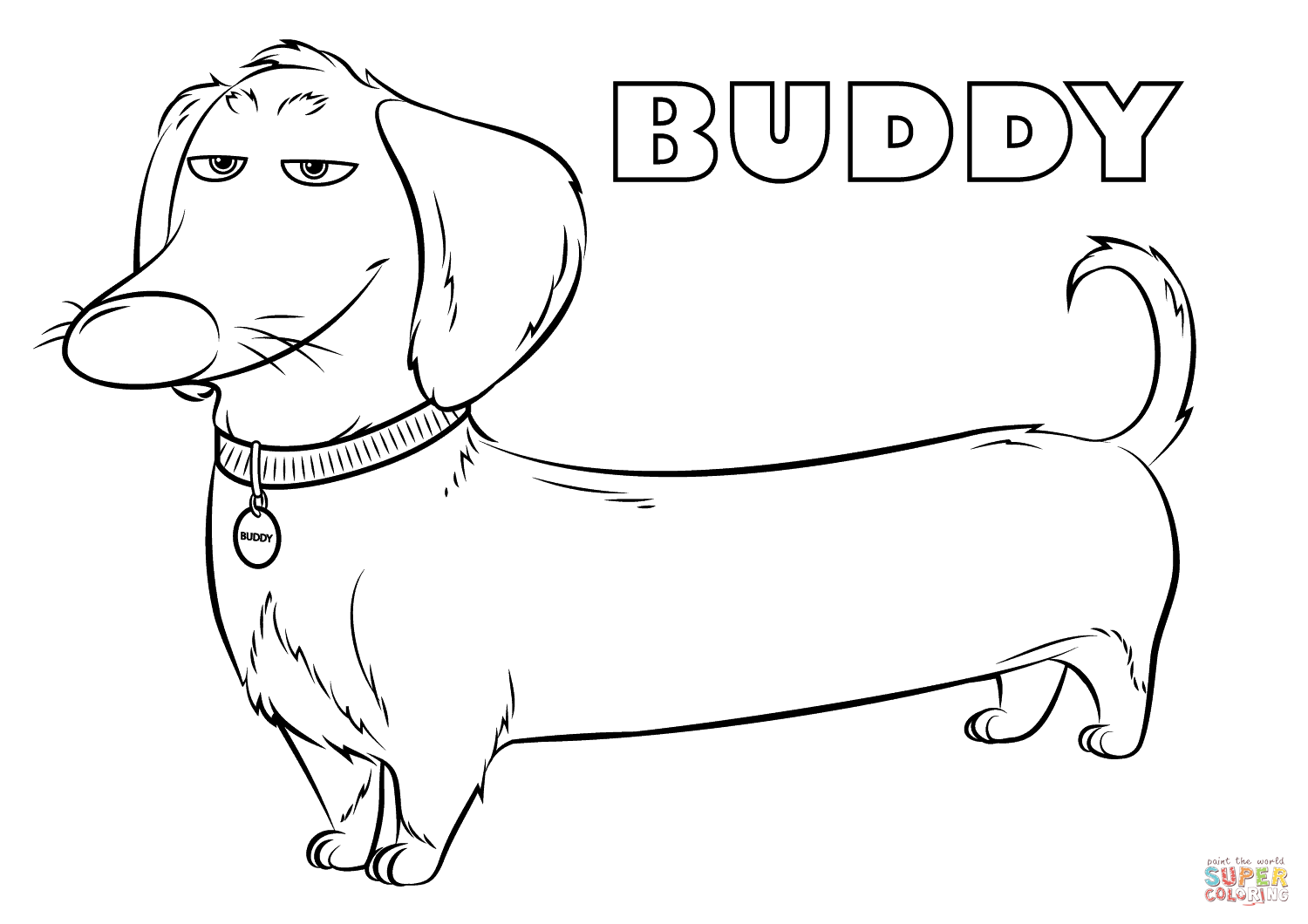 Buddy From The Secret Life Of Pets Coloring Page