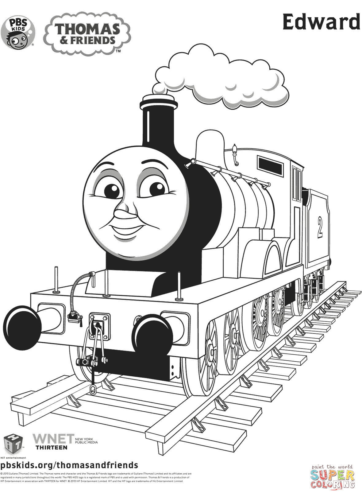 Edward From Thomas Amp Friends Coloring Page