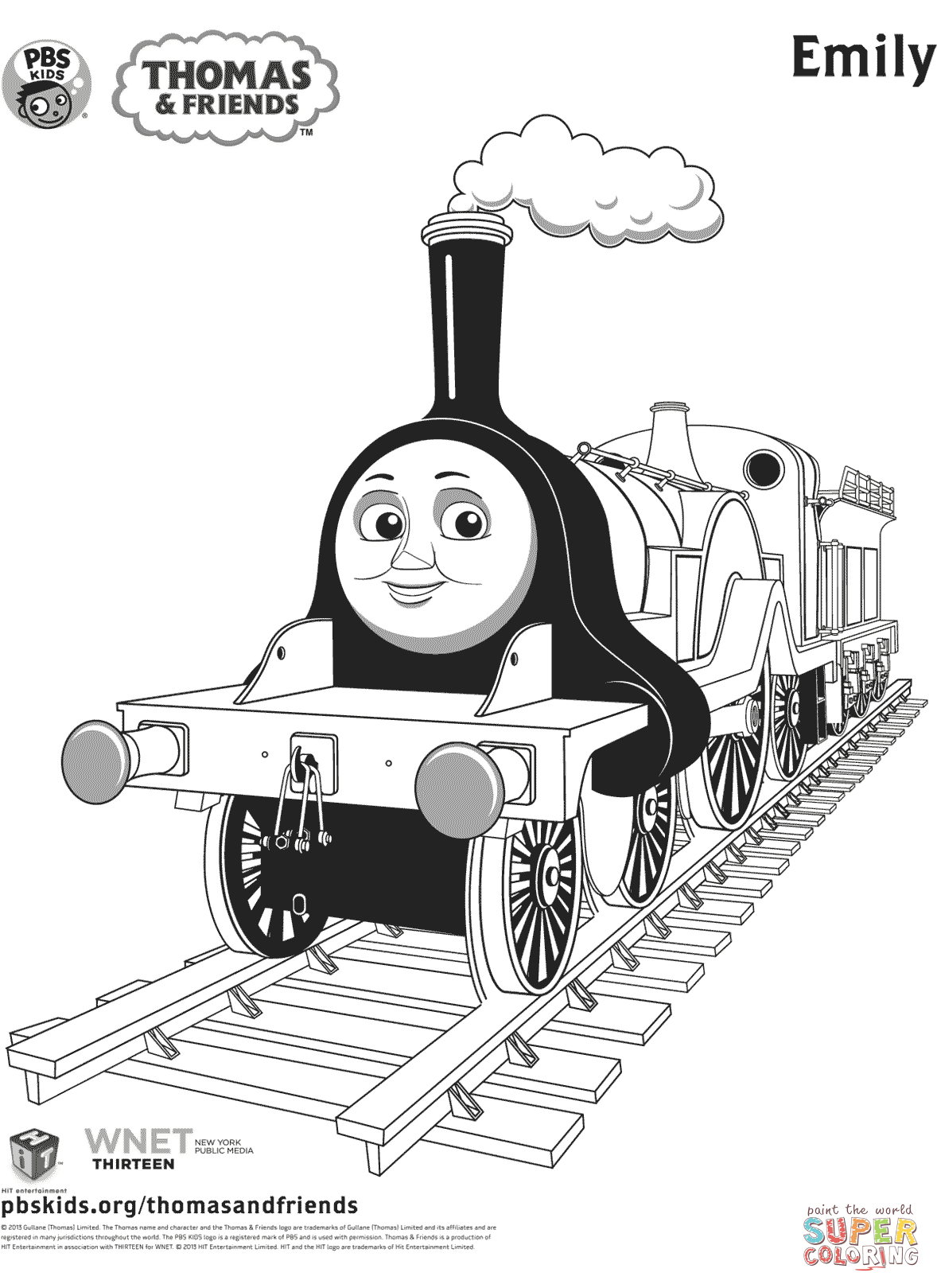 Emily From Thomas Amp Friends Coloring Page