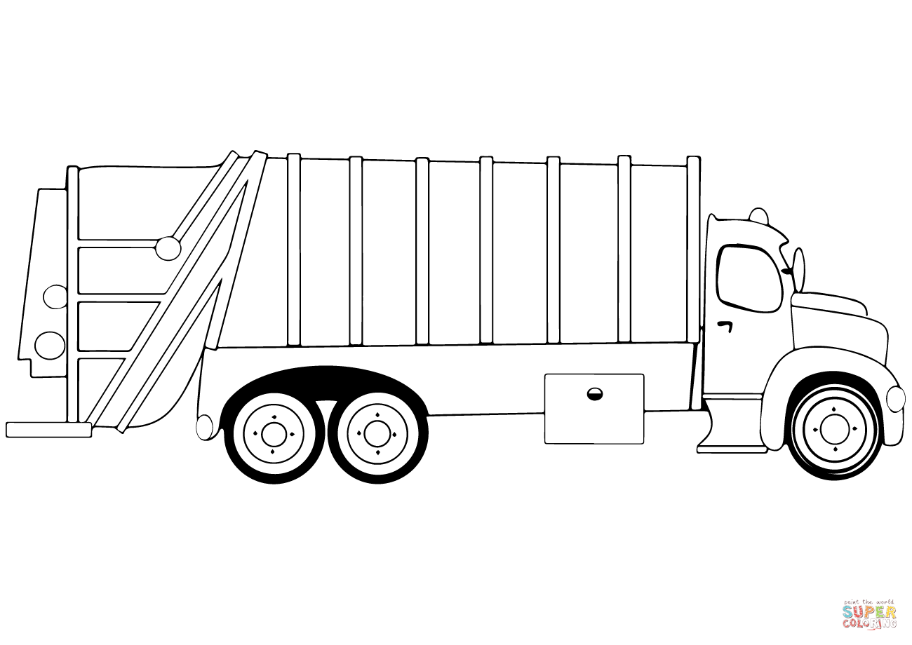 Ausmalbild Müllwagen Ausmalbilder kostenlos zum ausdrucken