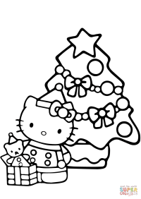 Hello Kitty Christmas coloring page | Free Printable ...