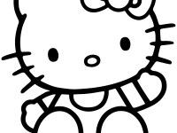 Hello Kitty Full Hd Coloring Printable Kitty For Kids Mobile Phones High Quality Sitting Page