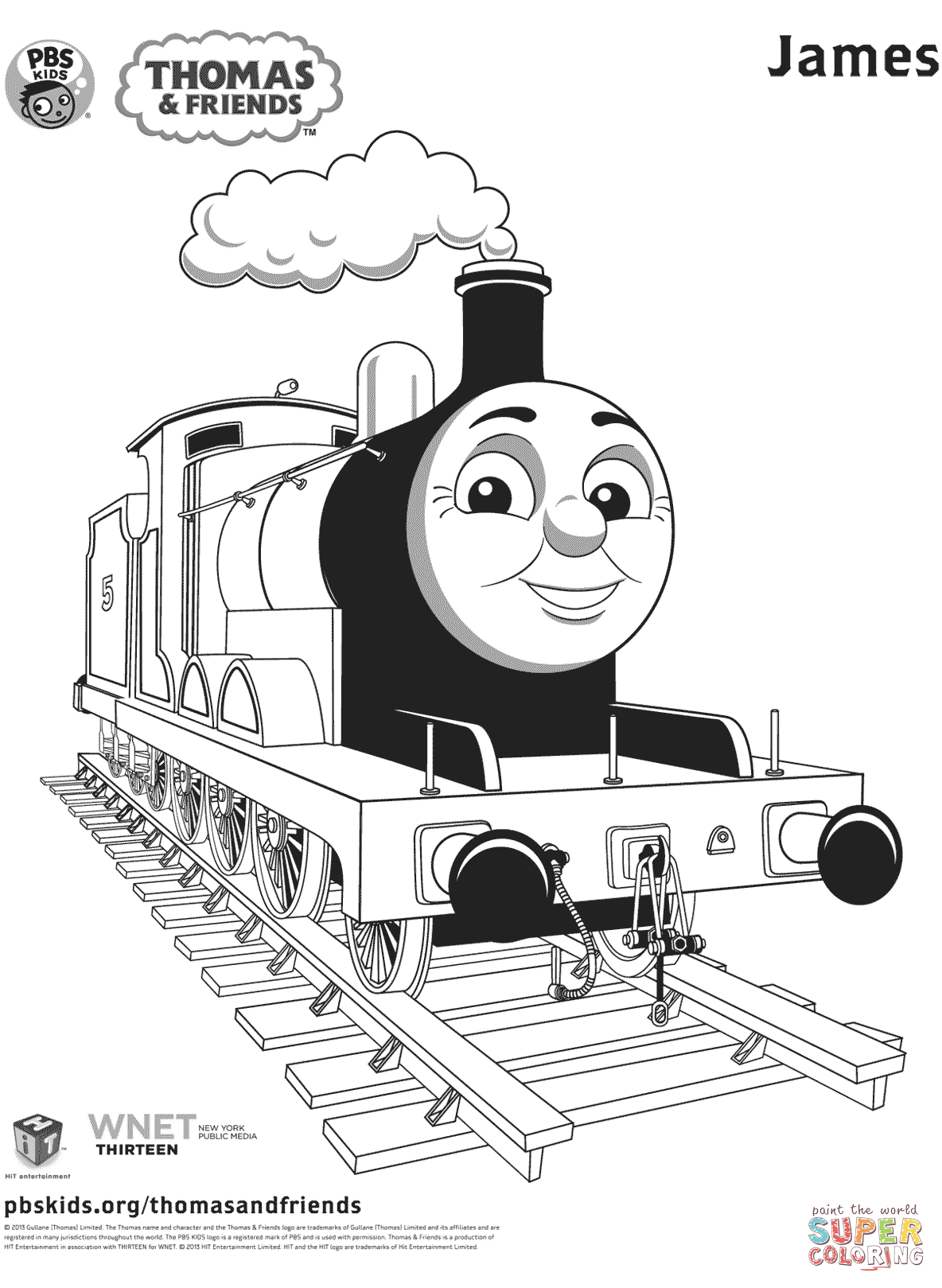 James From Thomas Amp Friends Coloring Page