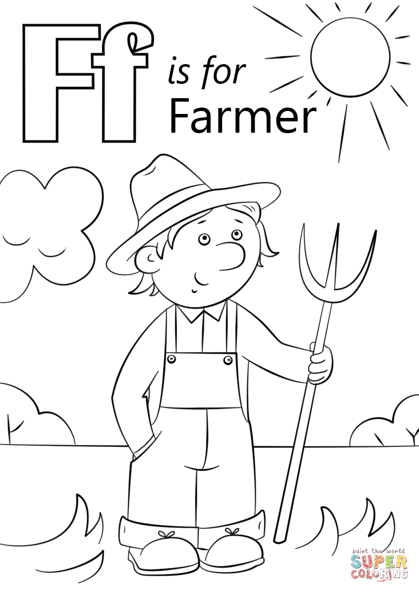 Farmer Overalls Page Coloring Pages