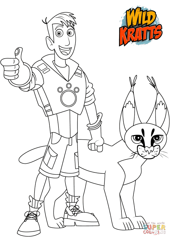Caracal Coloring Pages Colouring Page 2 Sketch Coloring Page