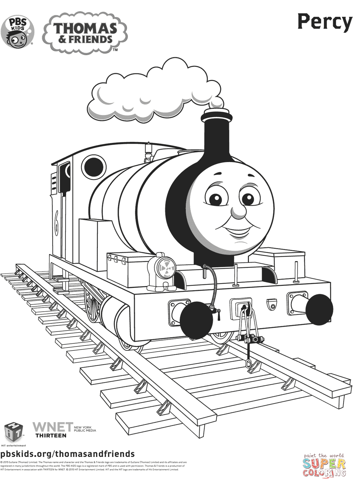 Percy From Thomas Amp Friends Coloring Page