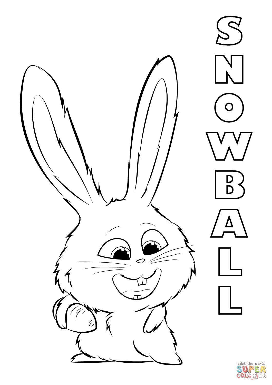 Snowball From The Secret Life Of Pets Coloring Page