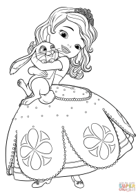 Sofia The First Coloring Pages For Kids - Sofia The First Coloring ... | 282x200