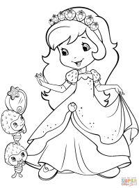 Strawberry Shortcake and Berrykins coloring page   Free ...