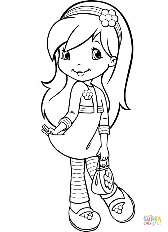 Strawberry Shortcake Raspberry Coloring Pages  Dessincoloriage