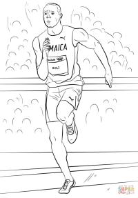 Desenho de Usain Bolt para colorir