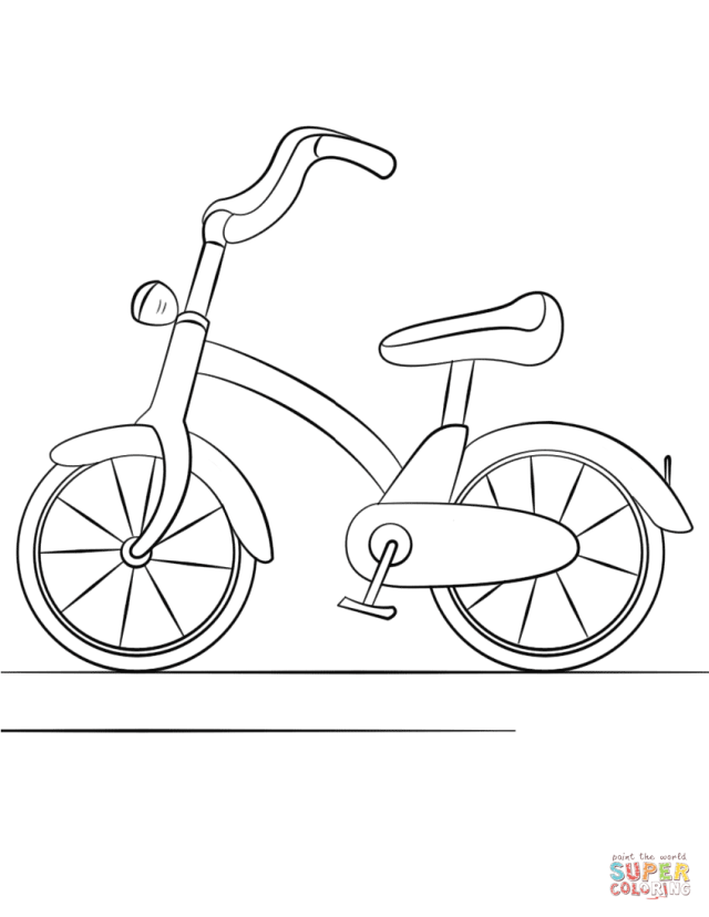 Bicycle coloring page  Free Printable Coloring Pages