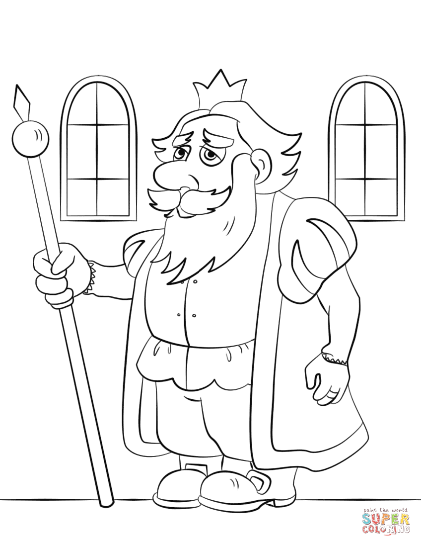 Free Coloring Pages Download Cartoon King Page Printable Of