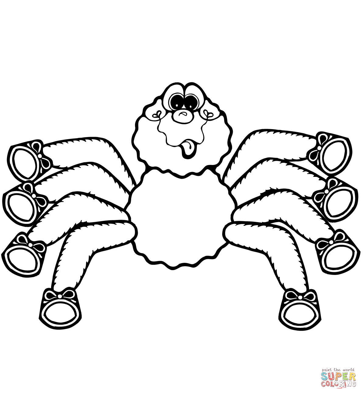 Cartoon Spider Coloring Page
