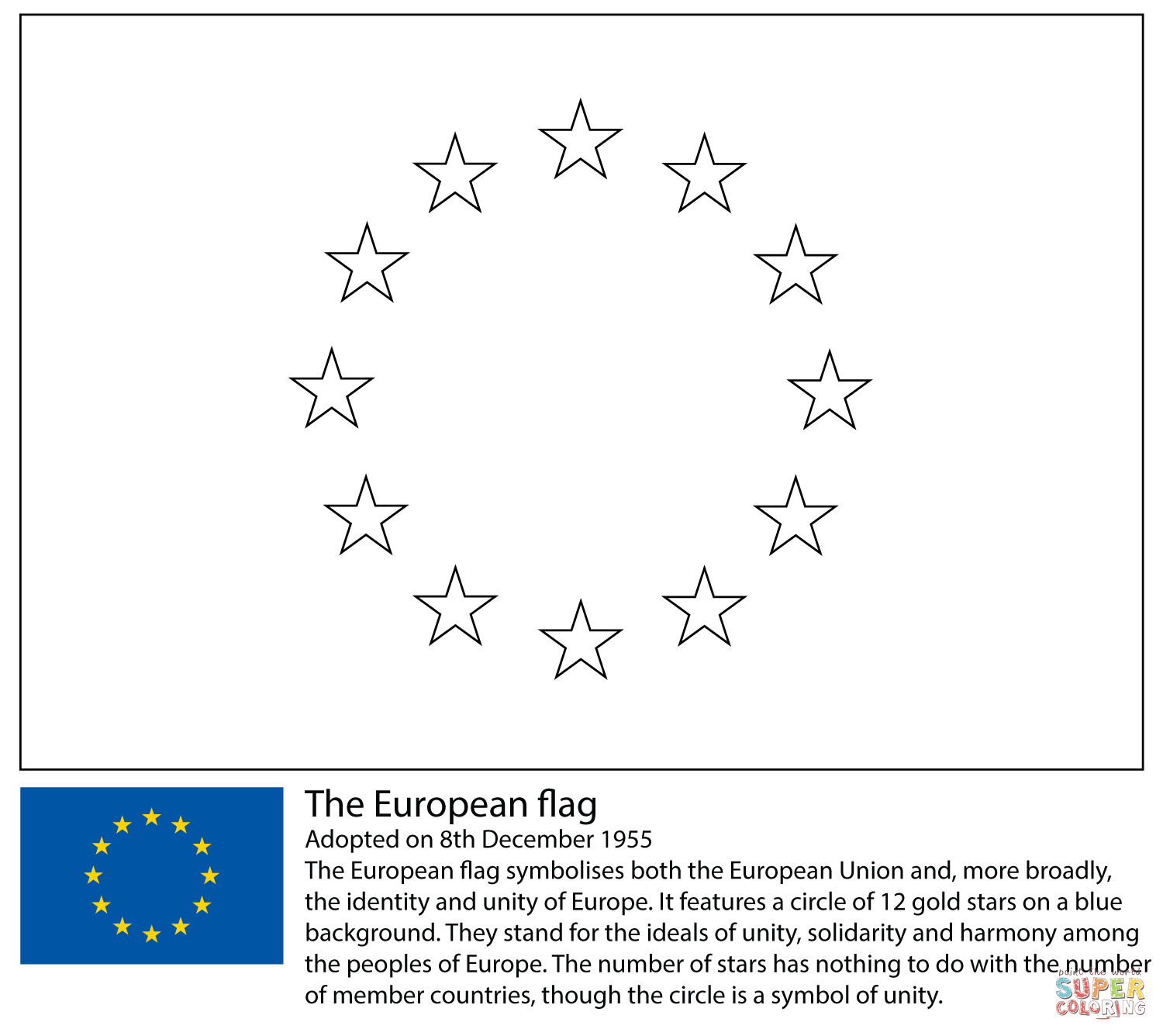 European Union Flag Coloring Page