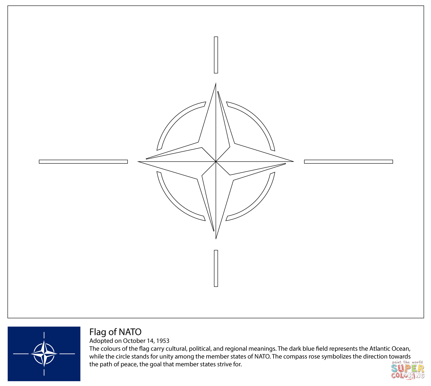 Flag Of Nato Coloring Page