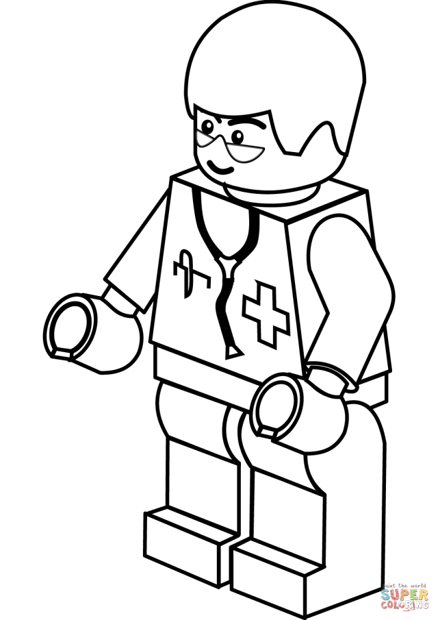 Lego Doctor coloring page  Free Printable Coloring Pages
