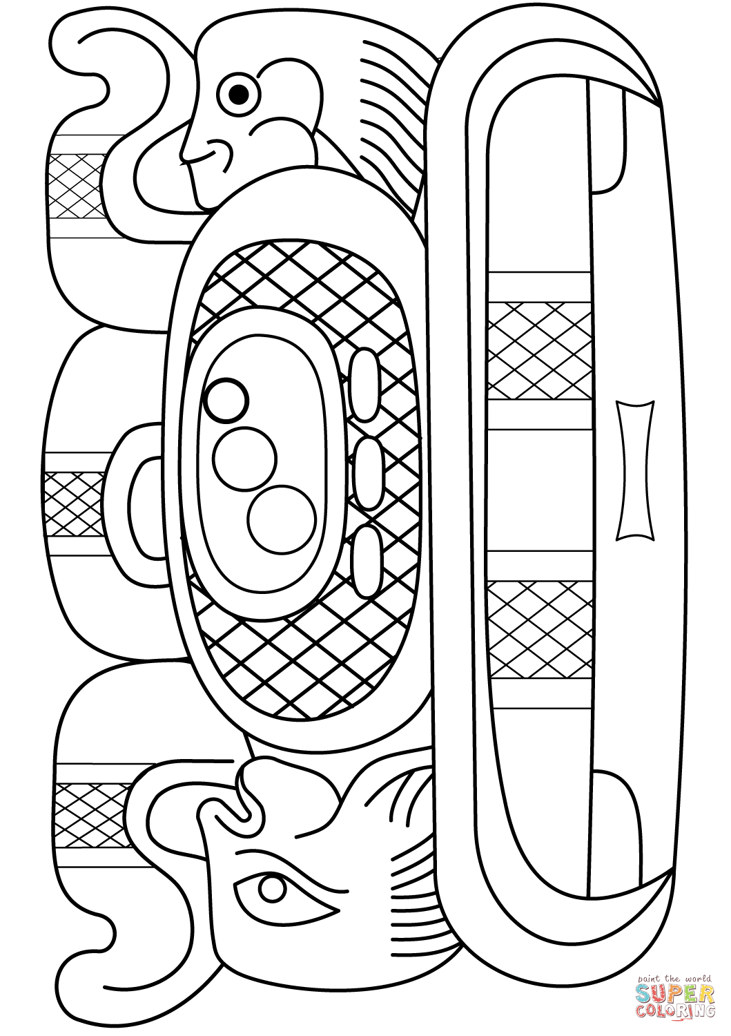 Mayan Calendar Coloring Pages Printable Coloring Pages