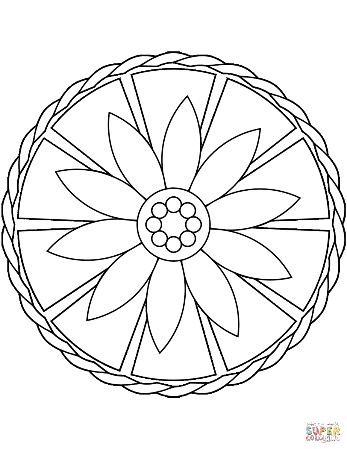 Cozy Simple Coloring Pages For Toddlers Mandala Printable